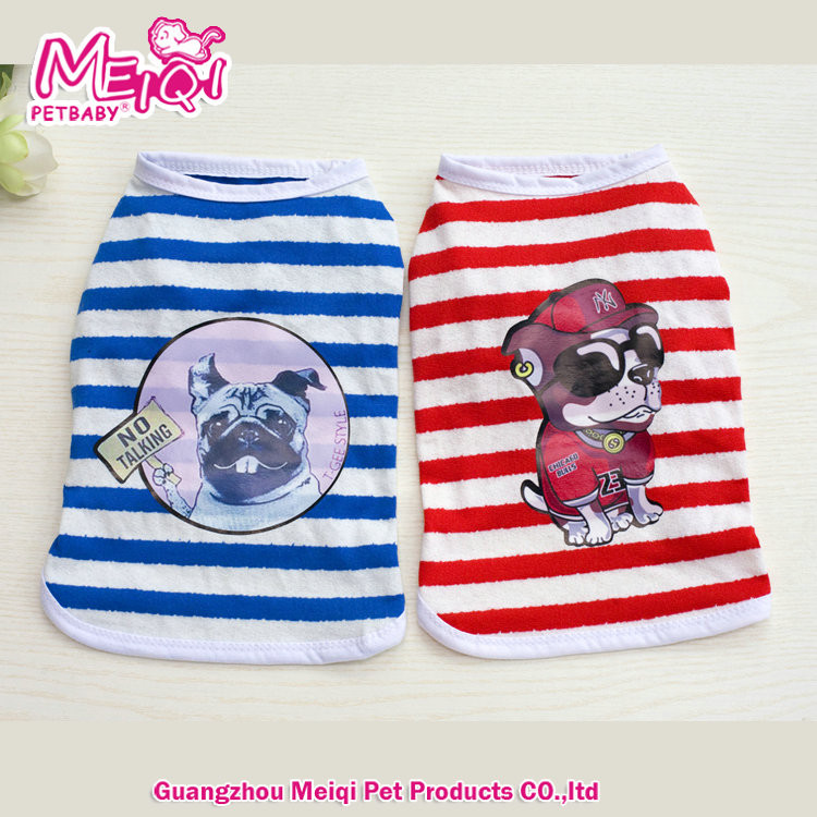 Navy Pet Dog Clothes Cotton Vest Cool Clothes Pet Clothes Dog T Shirt