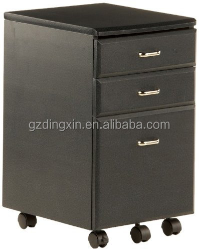 movable mobile file cabinet with locking 3 drawers