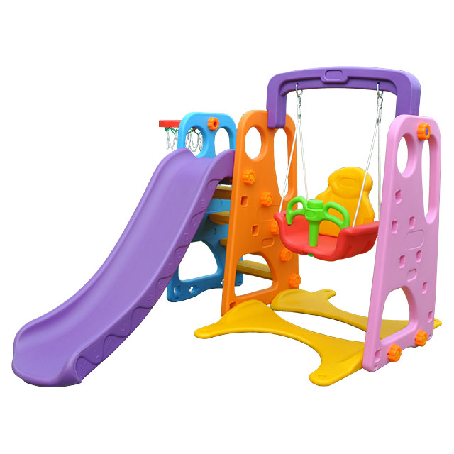 Indoor Plastic Children Slide Swing Garden Slide Kids Indoor Slide for Sale