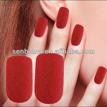 New Red Villus Nails Tips Nail Design False Nail Set Wholesale - Buy ...
