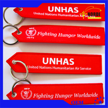 embroidered key tag with low price /Aviation key tag