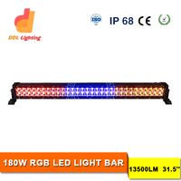 31.5'' 180W Amber Red Blue LED Emergency Light Bar LED Warning Strobe Light Security Car Lightbar