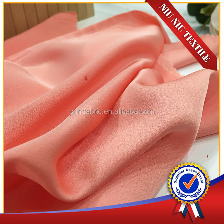 SOHA poly crepe satin heavy silk satin Chiffon Solid fabric