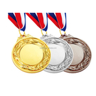 High Quality Custom 3D Gold Plated Sports Metal Medal Medallion With Ribbon
