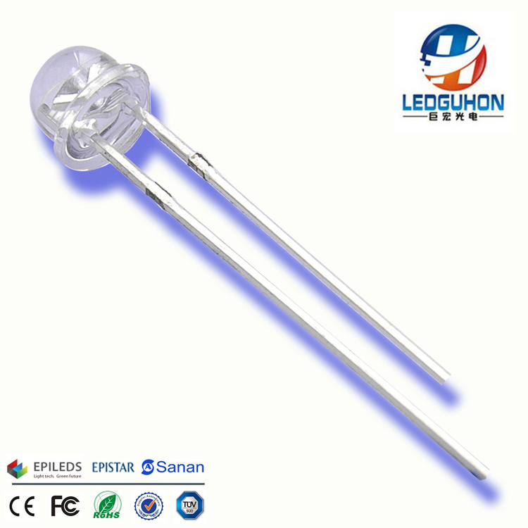 1000pcs New F8 8mm 0.5w 3.0-3.2v Straw Hat Led White Super Bright Led Lamp Wide Angle Transparent Led Lamp Strawhat Led Profit Small Active Components Diodes