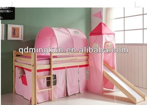 cotton tent with drawing for kids bed