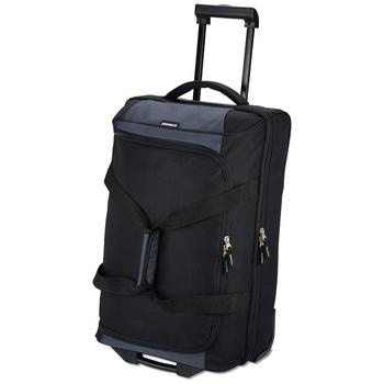 aa702b9cf3 High quality fashion 600D polycanvas duffle bag travel trolley luggage bag