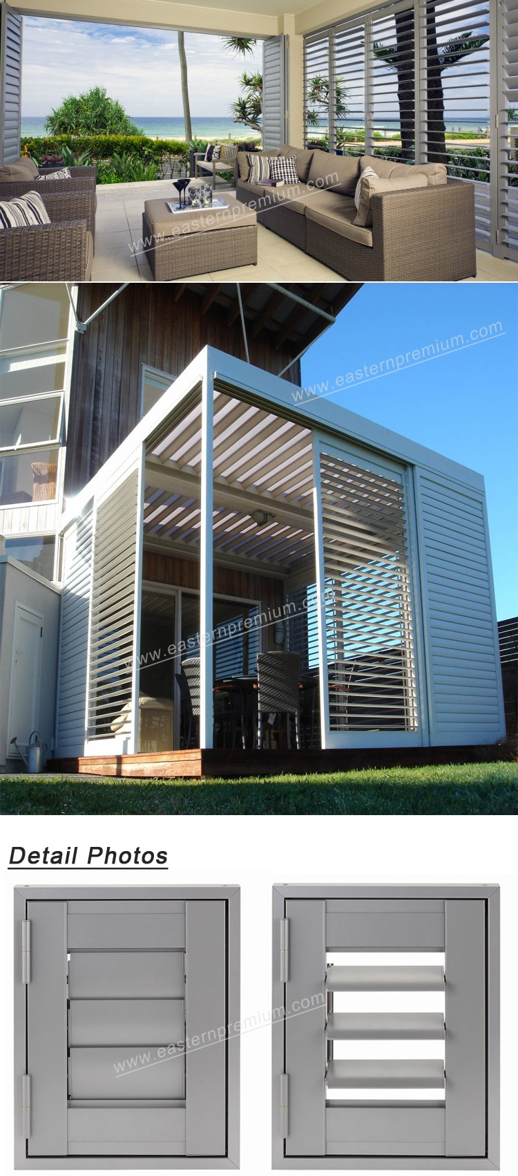 French Style Outdoor Diy Aluminum Adjustable Louver Window Shutters - Buy  Louver Shutters,Adjustable Louver Shutters,Aluminum Shutters Product on