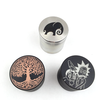 Smoking Accessory 4 Part 40mm Weed Grinder Herb Grinder With Custom Logo