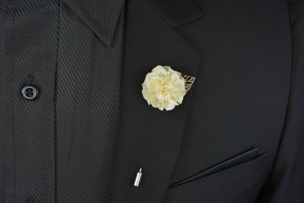 Men\'s Suits Flowers Brooches For Wedding Pin Up Insert Long Lapel ...