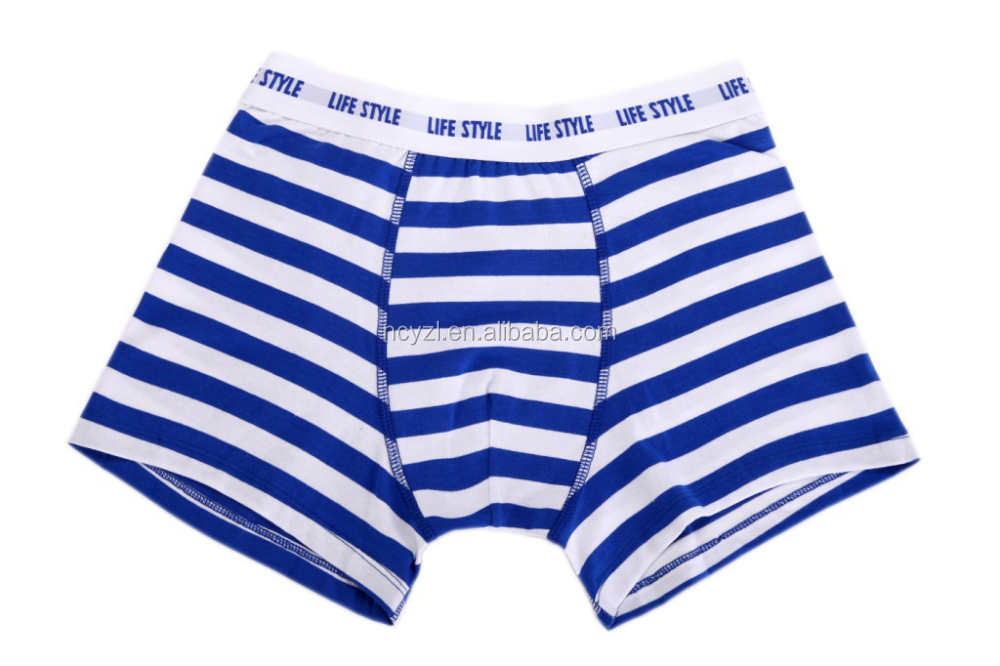 custom wholesale cotton striated sexy men underwear