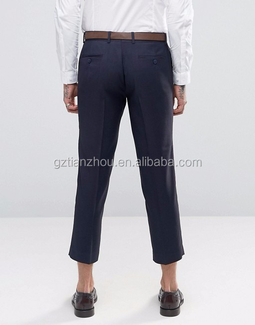 Hot Sale Good Quality Skinny Cropped Pants Men Fashion Dress Pants