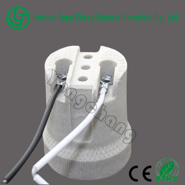 E27 threaded lamp holder type screw ceramic lampholder