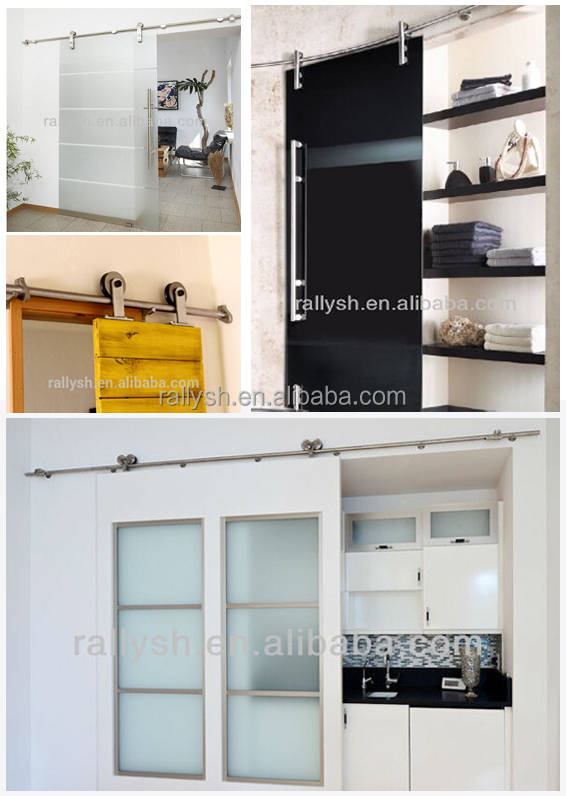 Interior or exterior sliding barn Door hardware/wood sliding door system
