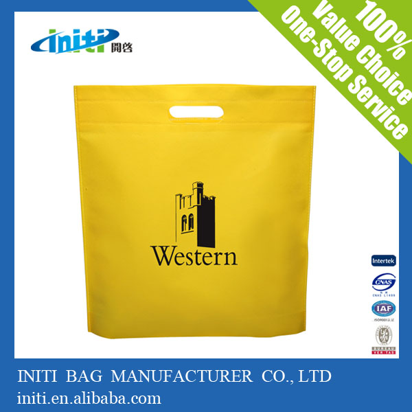 china <strong>eco</strong> wholesale die cut non woven bag