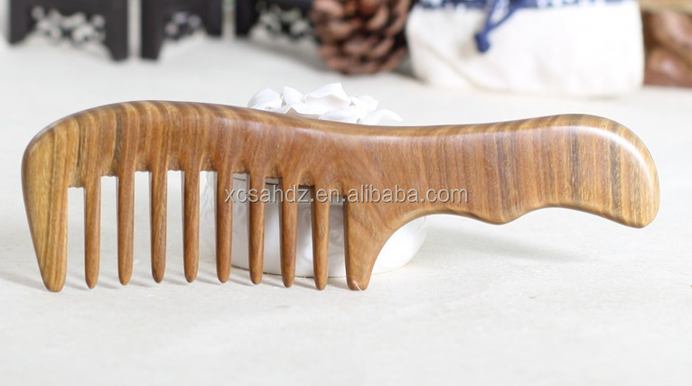 Barber Use Big Wide Tooth Sandalwood Aromatic No Static Hair Comb