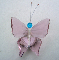 souvenir gift pink crystal butterfly MH-D0223