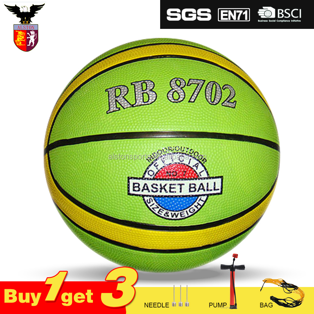 Cheap Price Rubber Basketball Ball 12 Panels For Training