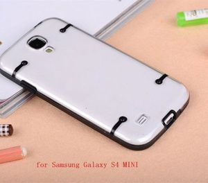 Dual colors luminous shell case for Samsung Galaxy S4 Mini for Samsung Galaxy S4 Mini tpu+pc protective covers
