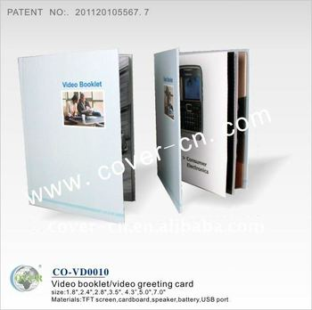 Custom Lcd VIdeo Greeting Card, Advertising Video Card