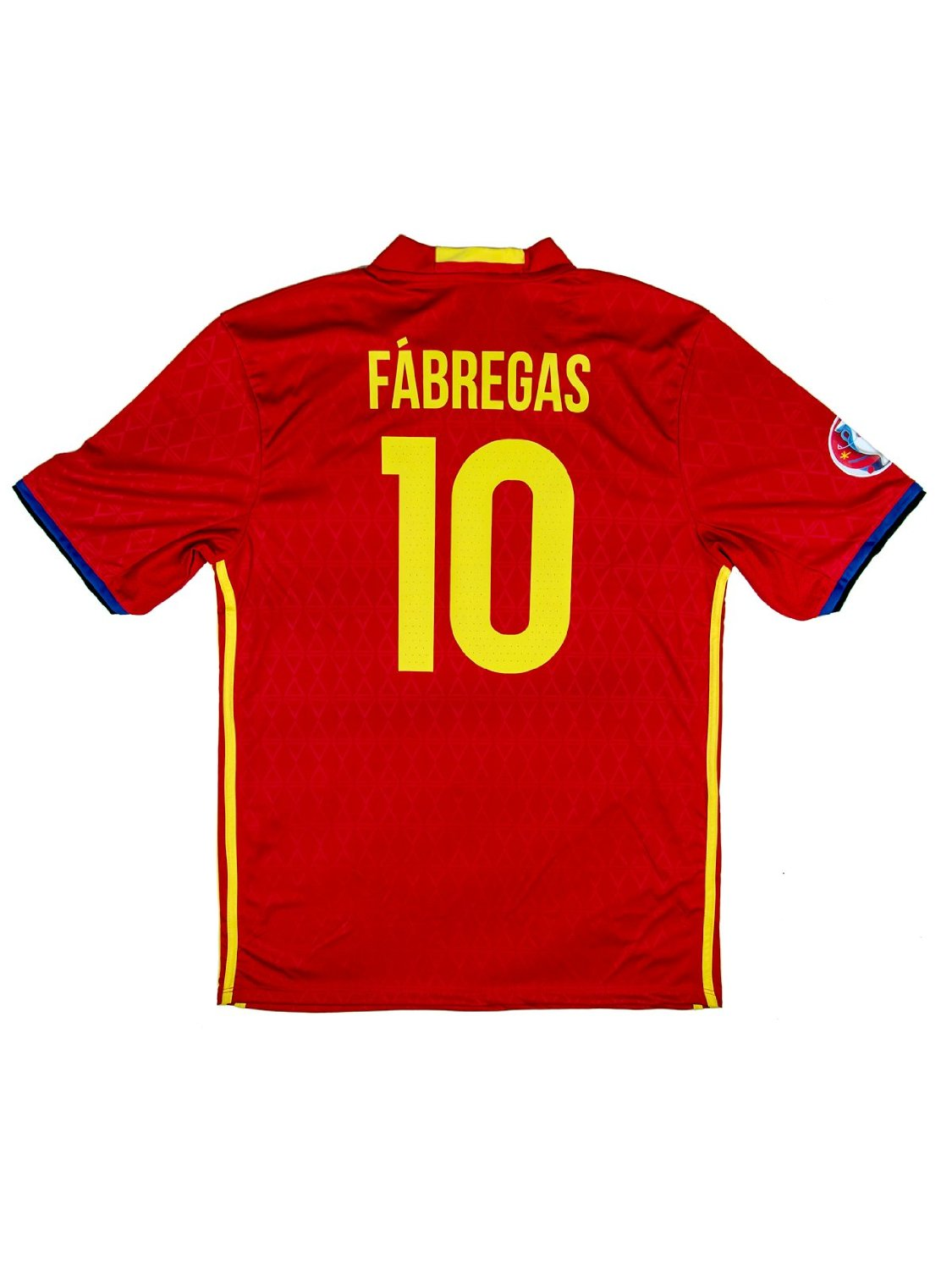 2def69757 Spain Euro 2016  10 Fabregas Home Soccer Adult Fan Jersey