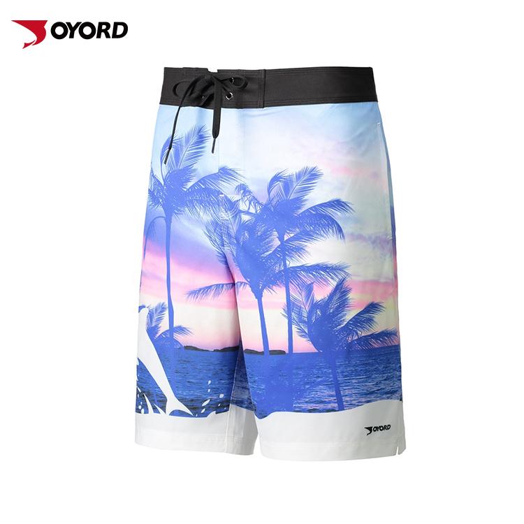 84c30c2449539 Custom Printed Sexy Mens Trunks 4 Way Stretch Tailored Volleyball Sweat Short  Swim Trunk Swimwear Men