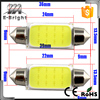 Auto 12v car led light COB 12SMD led licence plate auto festoon dome led lights BA9S adapters led Festoon