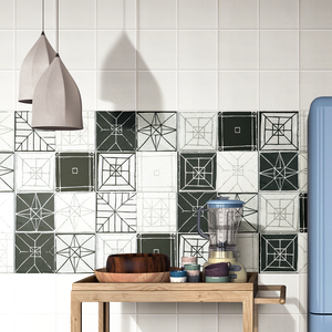 Inkjet Printing Glazed Ceramic Kitchen Wall Tiles 20x40
