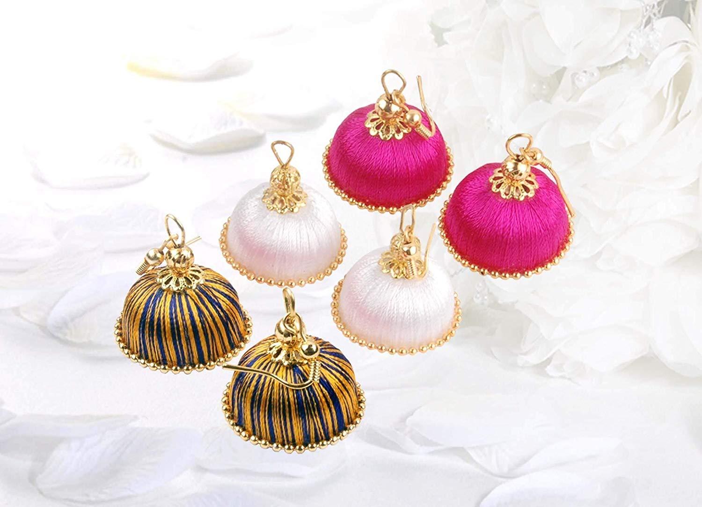 Krishna Handmade INDIAN Trendy Chandelier Earrings [3 pair of Earrings] [20mm Dia] [KR-CMB-H33]