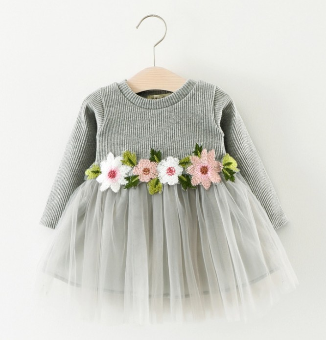 wholesale 2018 baby girls boutique dresses net cotton frock designs for kids fashion 2 year old girl dress