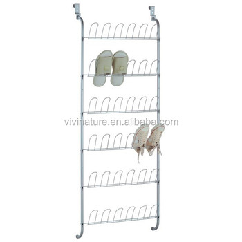 Vivinature Door Hang Metal Shoes Rack For 36 Pairs Folding Shoe Wall Hanging Mounted Product On
