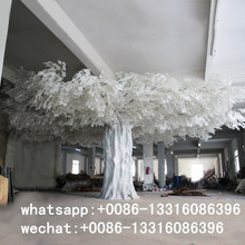 Q012807 large metal artificial ficus tree cheap wedding decoration white branch tree