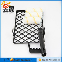 Paint roller tray set with grid for super market design
