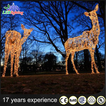 christmas attractive led warm white 3d reindeer figure light
