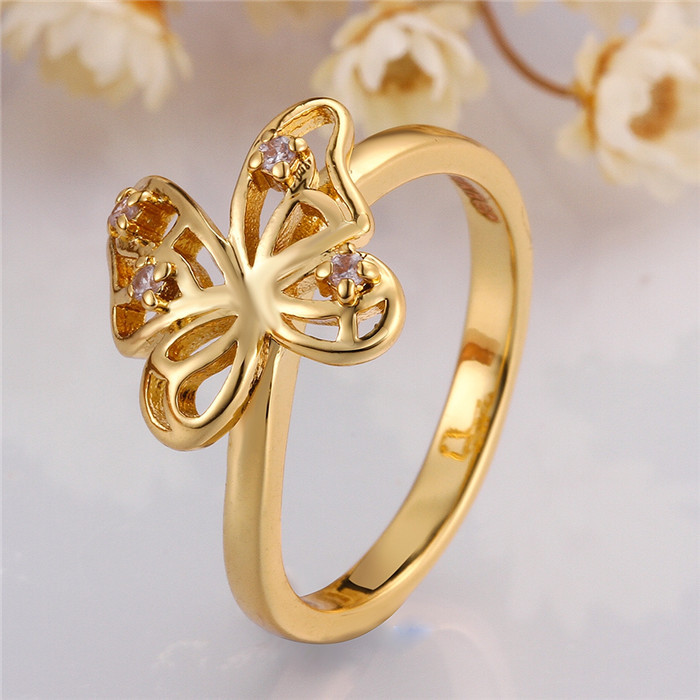 Wholesale Alibaba New Design Finger Butterfly Gold Ring Designs