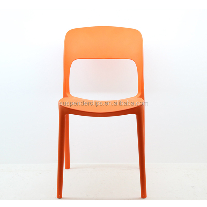 Custom italian design stackable colorful plastic dining chair in malaysia
