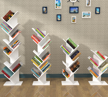 Modern Design Simple Wooden Bookshelf Tree Shaped Bookcase - Buy ...
