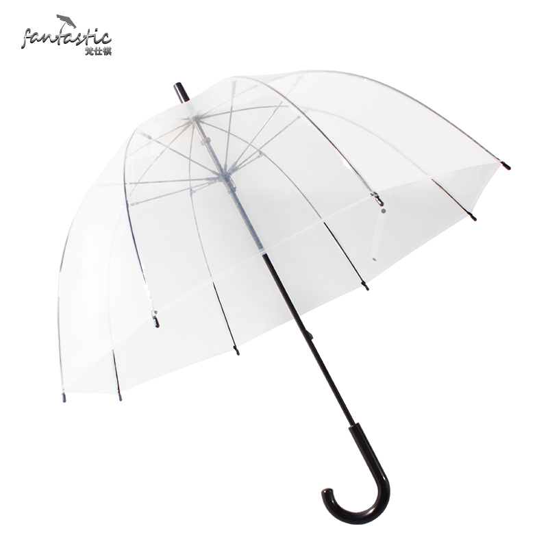 Custom Cheap Clear Kids Plastic Umbrella Transparent with Printing