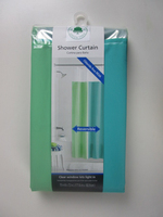 new fashion double solid color PEVA shower curtain liner with hooks