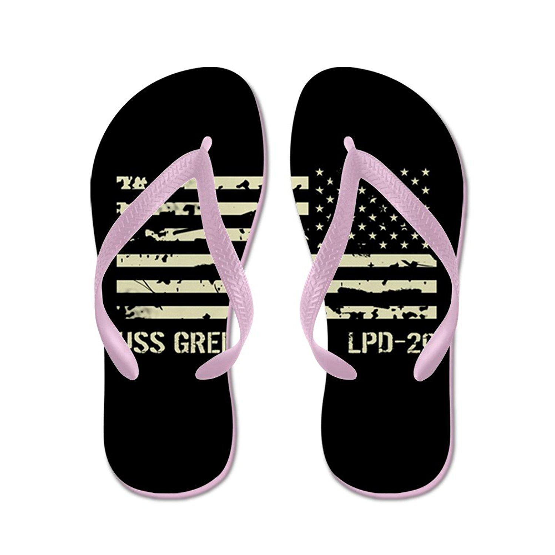 8553f75e0 Get Quotations · CafePress USS Green Bay - Flip Flops