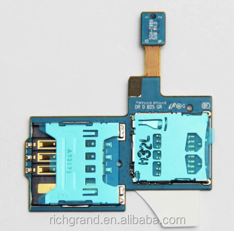 Original Sim Tray SD Card Reader Connector Holder Replacement For Samsung Galaxy S2