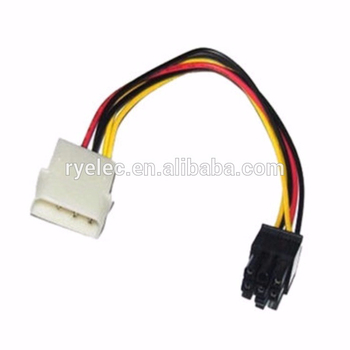 Molex Big Mouth 4pin To 5557 6pin Graphics External Power Cord Wire on