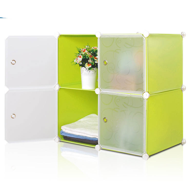 Diy Magic Cubes Foldable Storage Small Cupboard Fh-al0016-4