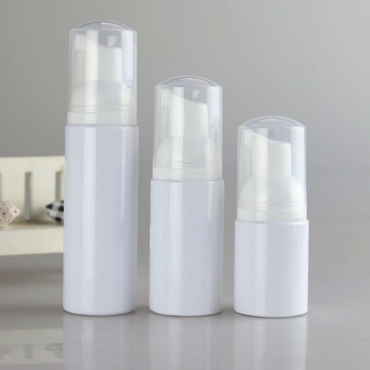 empty black  plastic foam pump bottles cosmetic packaging 100ml 150ml 200ml shampoo pump lotion bottle with brush