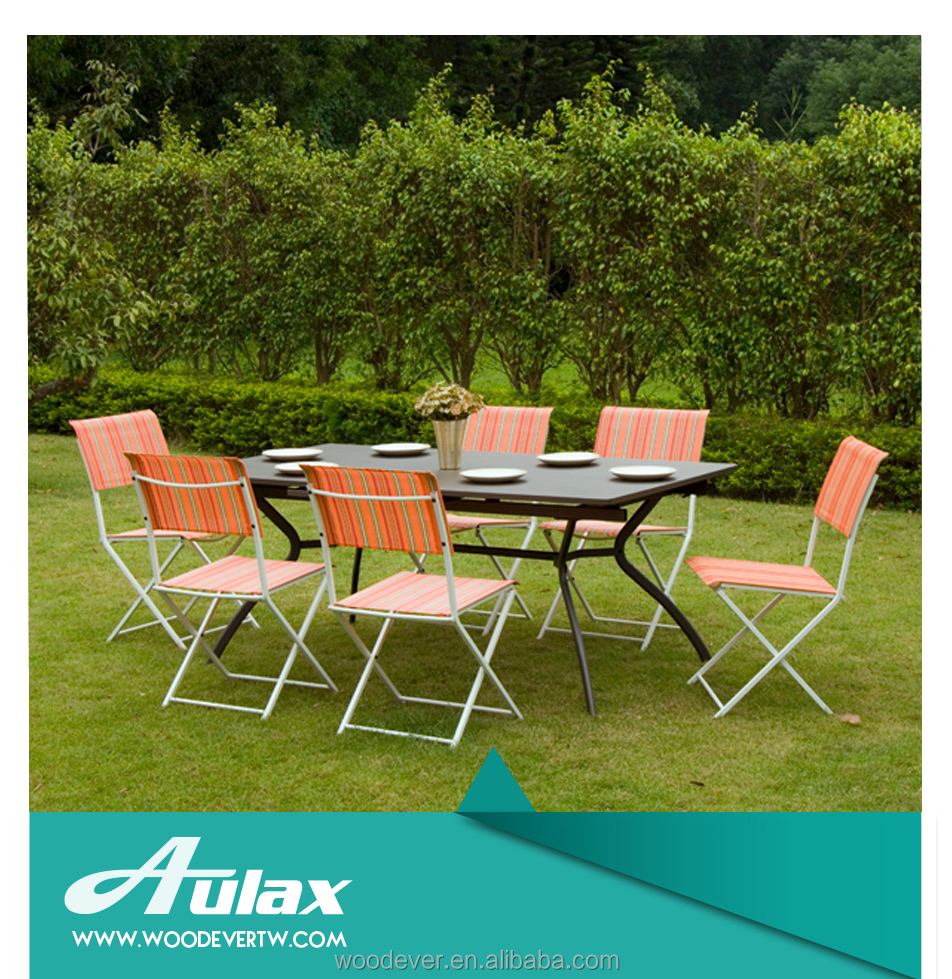 Outdoor terrace leisure way metal garden furniture