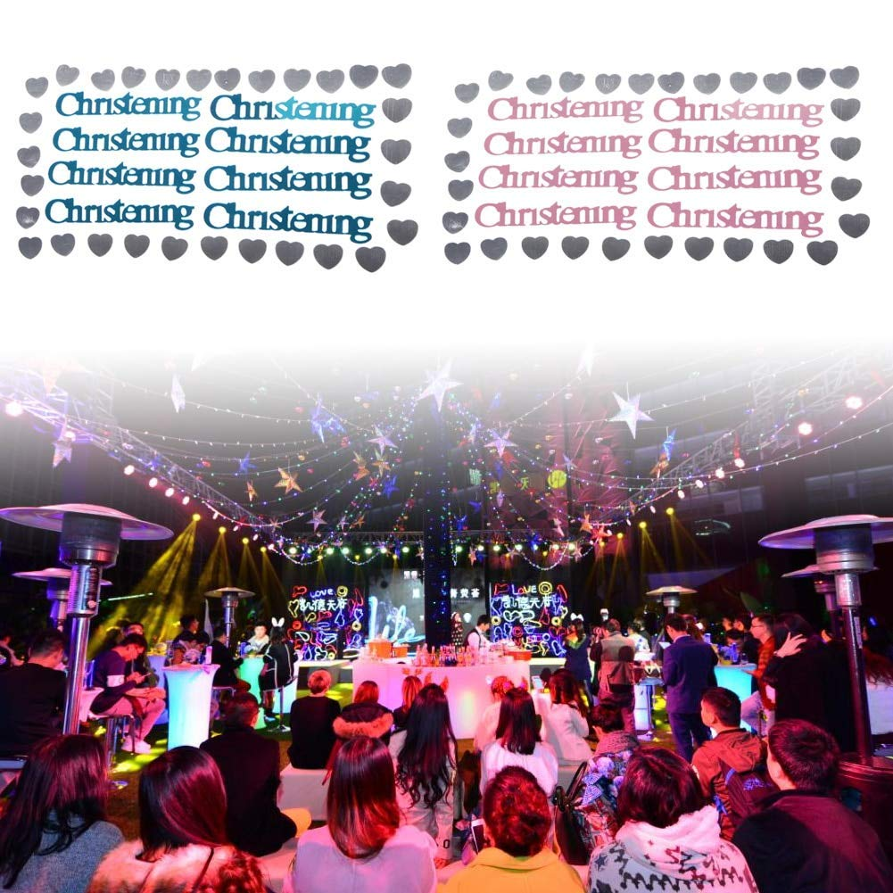 Get Quotations Christening Table Decoration Gold Confetti 700 Pcs Baby Heart Sequined Ters