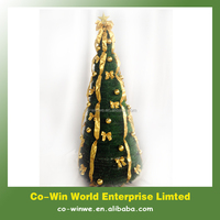 Pop up 180cm decorative folding Christmas tree with deco