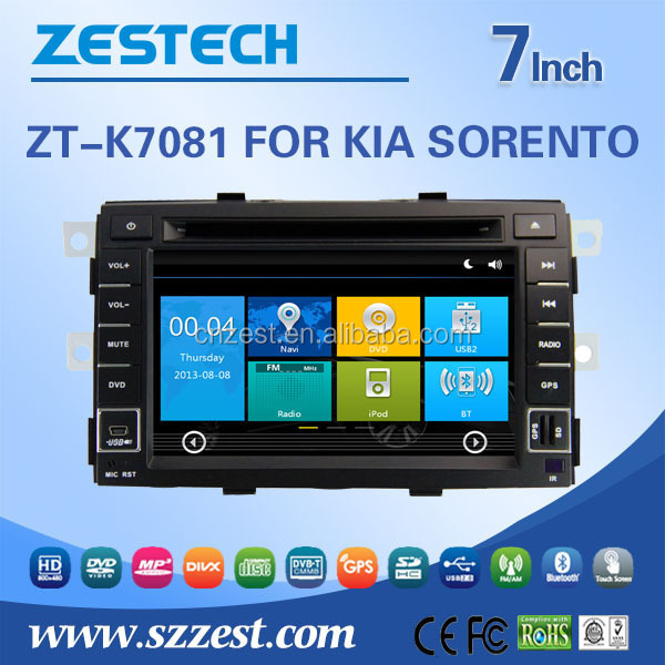Dashboard placement 8 inch 2 din car spare parts for Kia Sorento car stereo with car monitor Steering wheel control GPS 3G Wifi