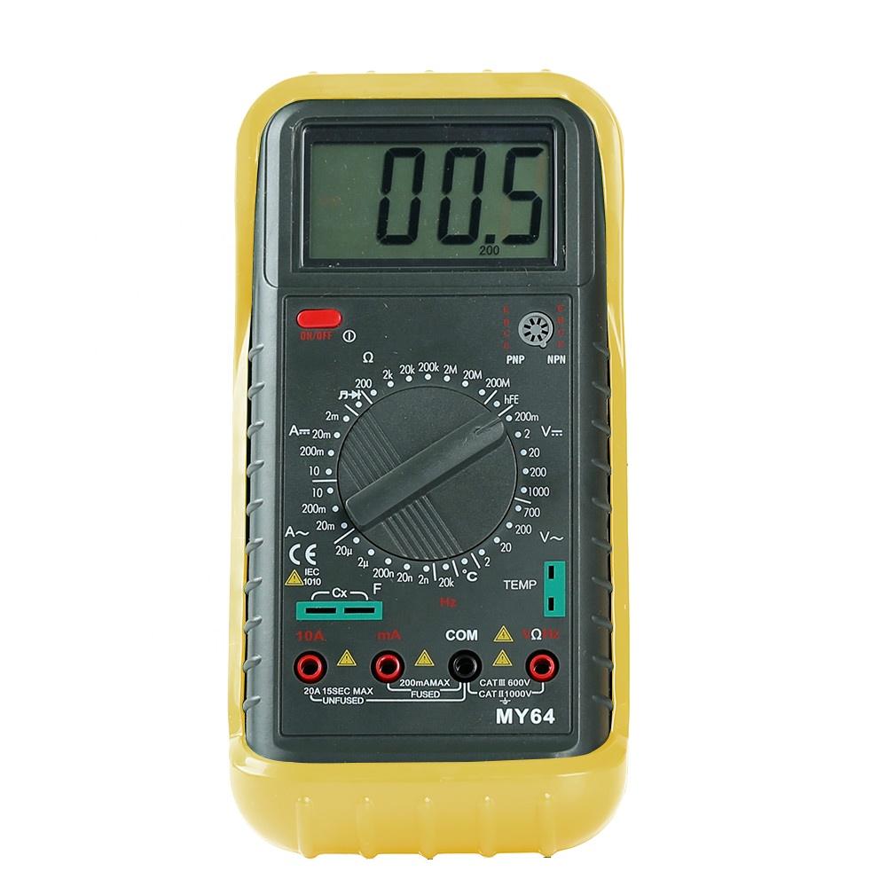 high quality digital multimeter MY64 with temperature measurement, auto range digital multimeter MY64