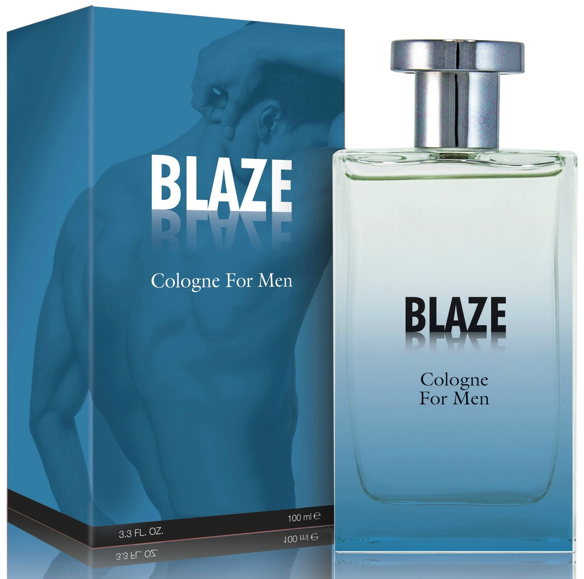 Blaze Cologne Spray for Men, 3.3 Ounces 100 Ml - Scent Similar to Abercrombie and Fitch Fierce